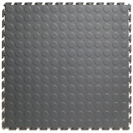 Pardoseala PVC Flexi-Tile Standard Studded 4.5mm Elite Gri inchis
