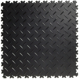 Pardoseala PVC Flexi-Tile Diamond Heavy Duty 7mm Elite Negru