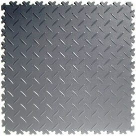 Pardoseala PVC Flexi-Tile Diamond Heavy Duty 7mm Elite Gri inchis