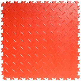 Pardoseala PVC Flexi-Tile Diamond Heavy Duty 7mm Elite Rosu